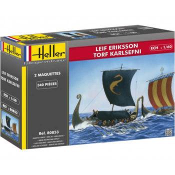 heller 80853 LEIF ERIKSSON & TORF KARLESFNI 1/60 Dual Combo Kit en plástico para montar y pintar 2 Drakkar Vikingos.
