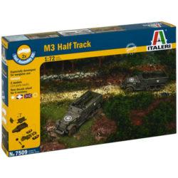 italeri 7509 M3 HALF TRACK FAST ASSEMBLY Kit en plástico para montar y pintar. Kit de montaje rápido, incluye 2 M3 Halftracks. Escala 1/72