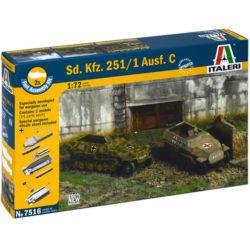 italeri 7516 Sd.Kfz. 251/1 Ausf. C FAST ASSEMBLY Kit en plástico para montar y pintar. Kit de montaje rápido, incluye 2 Sd.Kfz. 251/1 Ausf. C. Escala 1/72
