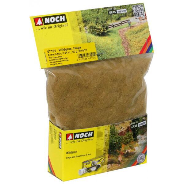 noch 07101 Hierbas Silvestres Beige 6mm 20gr Césped de fibra electrostática para recrear campos de hierba.
