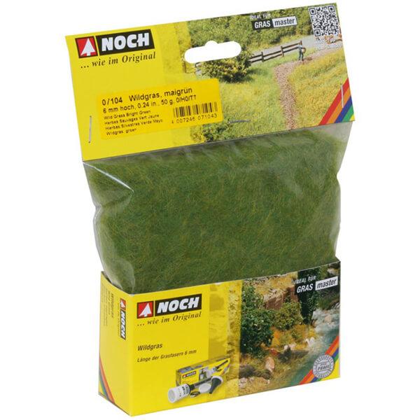 noch 07104 Hierbas Silvestres Verde Brillante 6mm 20gr Césped de fibra electrostática para recrear campos de hierba.