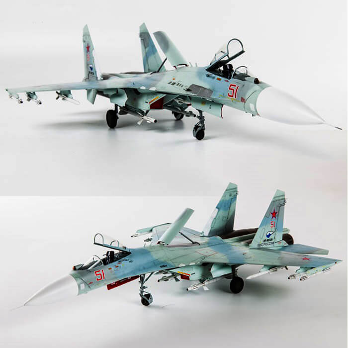 1 ZVEZDA 7295 1//72 Russian Air Superiority Fighter Su-27SM Flanker B Mod