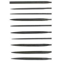 t03001Acrylicos Vallejo Set de 10 Limas de Aguja 170mm Juego de 10 limatones de cola de ratón de grano medio. Incluye las secciones mas útiles para trabajos de modelismo, bricolaje y restauración en plástico y madera.
