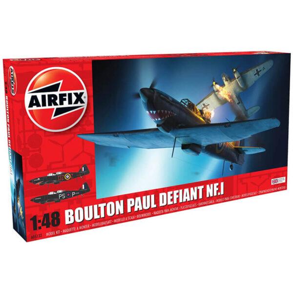 airfix a05132 Boulton Paul Defiant NF.1 Kit en plástico para montar y pintar. Incluye 2opciones de decoración.