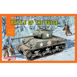 dragon models 7567 M4A3(76) W VVSS Sherman Battle of the Bulge Kit en plástico para montar  y pintar un tanque americano M4A3 Sherman de la 2ªGM.