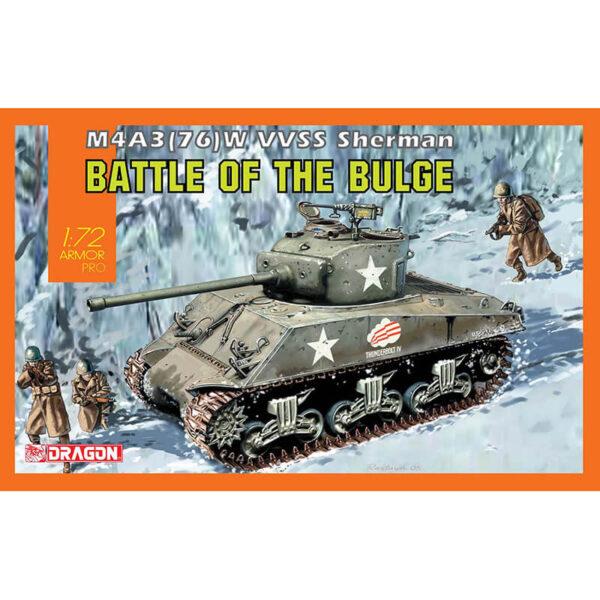 dragon models 7567 M4A3(76) W VVSS Sherman Battle of the Bulge Kit en plástico para montar y pintar un tanque americano M4A3 Sherman de la 2ªGM.