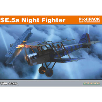 eduard 82133 SE.5a Night Fighter profiPACK Edition Kit en plástico para montar y pintar de la serie profiPACK de Eduard. La maqueta incorpora las modificaciones correspondientes a la versión de caza nocturna.