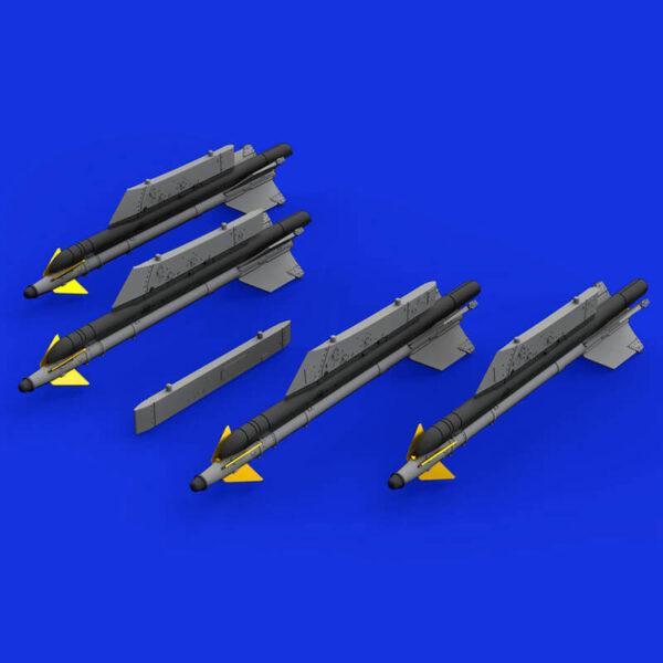 eduard brassin 672188 R-13M Missiles with Pylons for MiG-21 1/72 Kit en resina de los misiles R-13M con los pilones para el MIG-21.