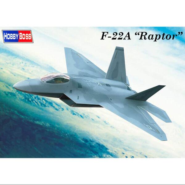 hobby boss 80210 Lockheed Martin F-22 Raptor El F-22 Raptor es un avión de caza de quinta generación invisible al radar. Kit en plástico para montar y pintar.