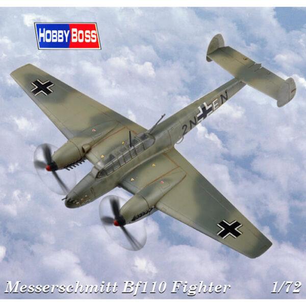 hobby boss 80292 Messerschmitt Bf110E-1 Fighter Kit en plástico para montar y pintar. Hoja de calcas con 2 decoraciones