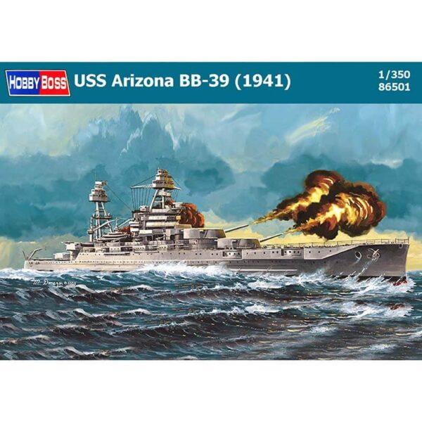 hobbyboss 86501 USS Arizona BB-39 1941 maqueta escala 1/350