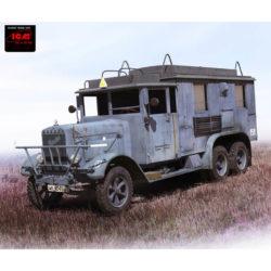icm 35467 Henschel 33 D1 Kfz.72 WWII German Radio Communication Truck Kit en plástico para montar y pintar