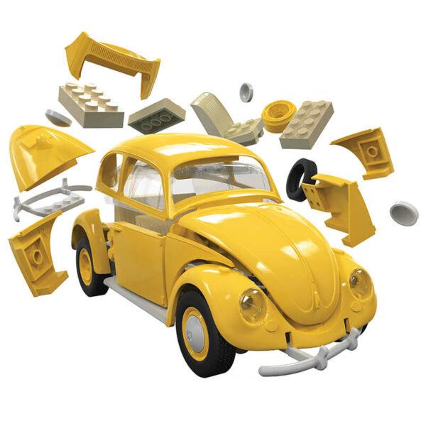 j6023 Airfix Volkswagen Beetle Yellow Quickbuild La nueva gama de modelos QUICK BUILD de Airfix se construyen usando bloques de plástico de ajuste fácil
