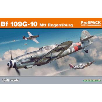 eduard 82119 Messerschmitt Bf 109G-10 Mtt Regensburg profiPACK Kit en plástico para montar y pintar de Eduard en las serie profiPACK. Representa el modelo fabricado en la planta de Regensburg.