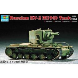 trumpeter 07235 Soviet KV-2 M1940 tank Kit en plástico para montar y pintar. Dimensiones 98 x 46 mm