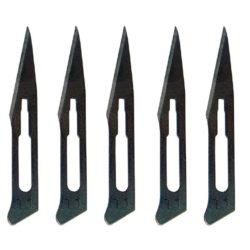 Dismoer 25006 Juego Recambio Cuchillas Para Bisturí Juego de 5 cuchillas nº11 para el Bisturí dism 25001 Estas cuchillas se pueden usar para el corte de moldes de goma, hoja de calcas, mascarillas, etc.