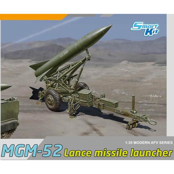 dragon 3600 MGM-52 Lance Missile w/Launcher Kit en plástico para montar y pintar. Hoja de calcas con una decoración del US Army en 1972