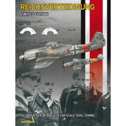 eduard 11119 Reichsverteidigung Dual Combo 1/48 Kit en plástico para montar y pintar en edición limitada de Eduard. Dual Combo compuesto por un Focke Wulf Fw 190A-8/R2 y un Messerschmitt Bf 109G-6/14. Incluye piezas en fotograbado y mascarillas. Hoja de calcas con 13 decoraciones