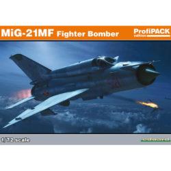 eduard 70142 MiG-21MF Fighter-Bomber ProfiPAK 1/72 Kit en plástico para montar y pintar. Incluye piezas en fotograbado y mascarillas. Hoja de calcas con 5 decoraciones