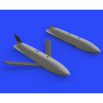 eduard brassin 648425 AGM-158 air-to-surface missile 1/48 Kit en resina del misil aire-superficie utilizado por los:F-15E, F-16, F/A-18, F-35, B-1B, B-2 y B-52 El set incluye 2 misiles.