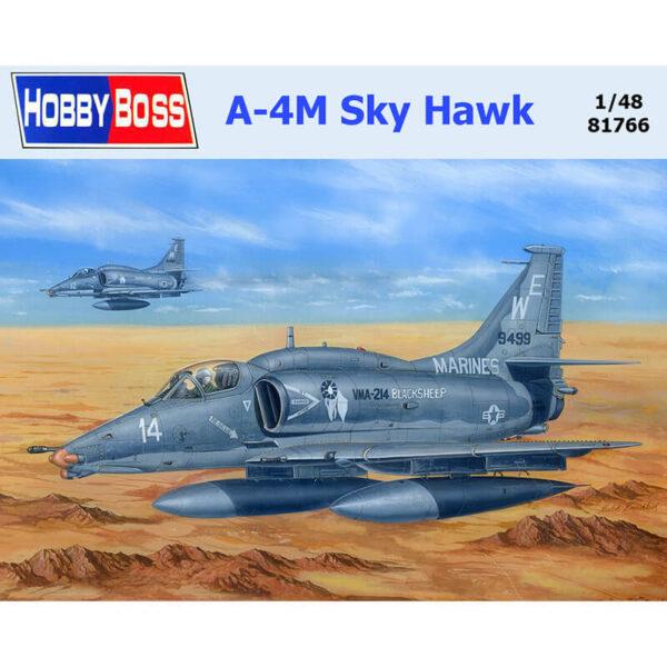 hobby boss 81766 A-4M Sky Hawk 1/48 Kit en plástico para montar y pintar. Hoja de calcas con 2 decoraciones de los Marines.