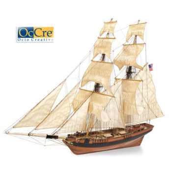 occre 13003 Goleta Dos Amigos 1/53 Kit de construcción tradicional en madera, casco por cuadernas con doble forro.