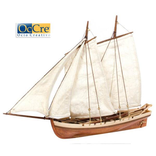 occre 52003 Bounty´s Boat 1/24 Kit de construcción tradicional en madera, casco por cuadernas con doble forro.