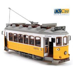 occre 53005 Tranvía Lisboa 1/24 Kit de montaje en madera y metal, de dificultad media. Incluye instrucciones de montaje paso a paso con planos y fotografías.