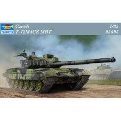trumpeter 05595 Czech T-72M4CZ MBT Kit en plástico para montar y pintar. Incluye piezas en fotograbado y cadenas por eslabones individuales. Hoja de calcas con 2 decoraciones.