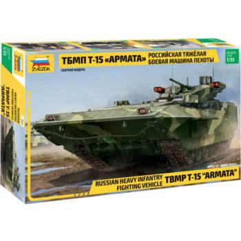 Zvezda 3681 Russian Heavy Infantry Fighting Vehicle TBMP T-15 Armata Kit en plástico para montar y pintar. Cadenas por tramo y eslabón. Piezas 376 Longitud 279 mm