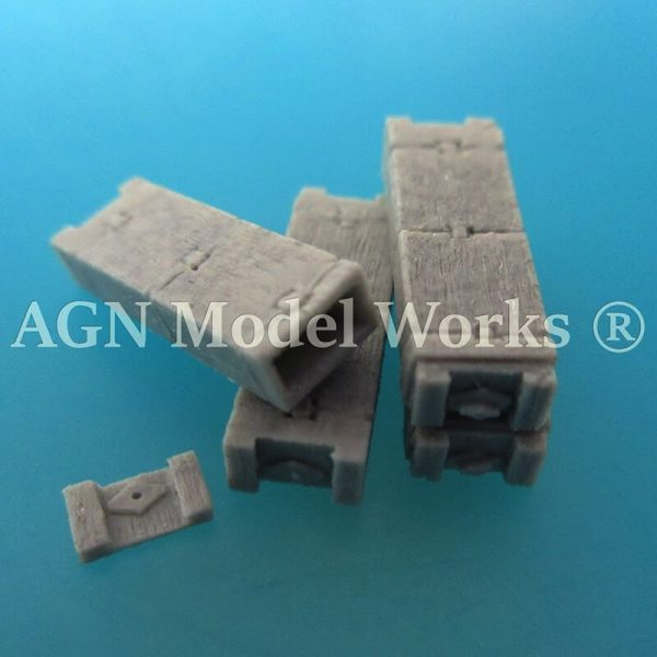 agn modelworks 72101 WW2 U.S. 105 mm Ammunition Crate 2ª GM Caja de munición de 105 mm. U.S.A. escala 1/72