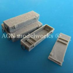 agn modelworks 72105 WW2 German 75 mm. Kw.K.42 ammunition crate 2ª GM Caja de munición alemana de 75 mm. Kw.K.42 para Panther kit en resina escala 1/72