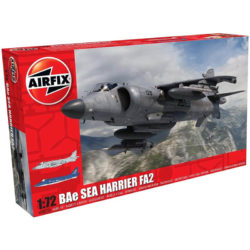 airfix a04052a British Aerospace BAe Sea Harrier FA2 Kit en plástico para montar y pintar. Hoja de calcas con 2 decoraciones. Dimensiones 197 x 107 mm Escala 1/72 Piezas 116