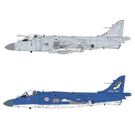 airfix a04052a British Aerospace BAe Sea Harrier FA2 Kit en plástico para montar y pintar. Hoja de calcas con 2 decoraciones. Dimensiones 197 x 107 mm Escala 1/72 Piezas 116