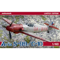 eduard 11122 Avia S-99 / C-10 Limited Edition Kit en plástico para montar y pintar la versión de posguerra fabricada en Checoeslovaquia del Messerschmitt Bf 109G10 en edición limitada de Eduard. Incluye piezas en fotograbado y mascarillas. Escala 1/48 Hoja de calcas con 4 decoraciones