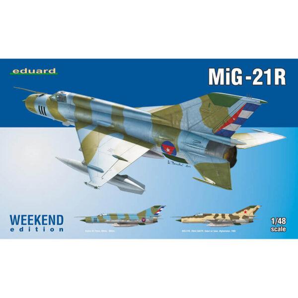 eduard 84123 MiG-21R Weekend Edition 1/48 Kit en plástico para montar y pintar. Hoja de calcas con 2 decoraciones. MiG-21R Cuban Air Force 80´s 90´s MiG-21R 263rd, OAETER, Kabul Air Base, Afganistan 1982