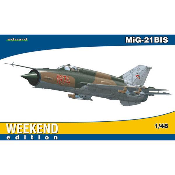 eduard 84131 MiG-21BIS Weekend Edition 1/48 Kit en plástico para montar y pintar. Hoja de calcas con 1 decoración de la Fuerza Aerea Hungara