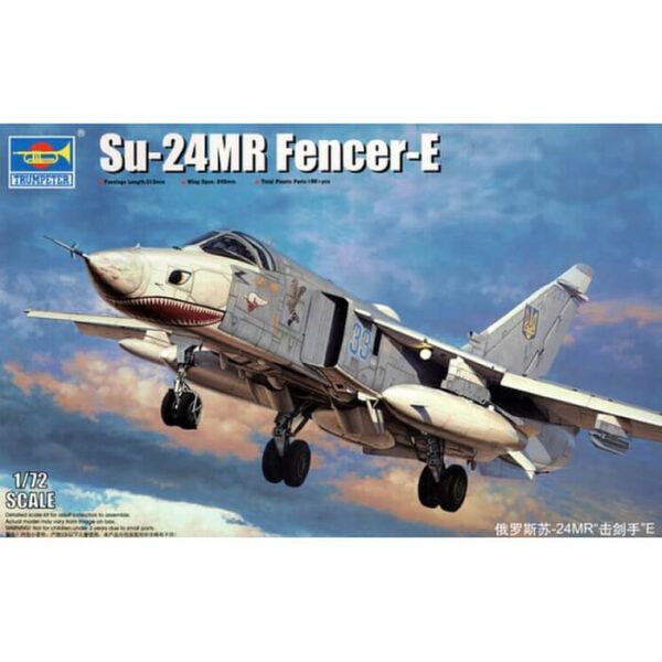 trumpeter 01672 Su-24MR Fencer-E El Sukhoi Su-24MRes la versión de reconocimiento táctico de la familia del Su-24 con el nombre en clave de la OTAN Fencer-E. Kit de plástico para montar y pintar.