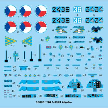 trumpeter 05805 L-39ZA Albatros Advance Trainer Kit en plástico para montar y pintar. Incluye piezas en fotograbado.