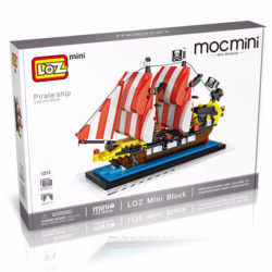 Loz Mini 1211 Barco Pirata Perla Negra 653 pcs Construye y colecciona con los bloques de Loz tus modelos favoritos. Los Mini Blocks de Loz son los bloques de construcción de tamaño medio entre Loz Diamond Blocks y Lego Blocks. Piezas 653
