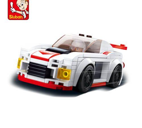 Sluban B0633C Car Club Knight Juego de construcción por bloques de plástico compatibles con Lego y otras marcas. Una forma fácil y divertida de construir tus primeros modelos y favorecer el desarrollo e imaginación