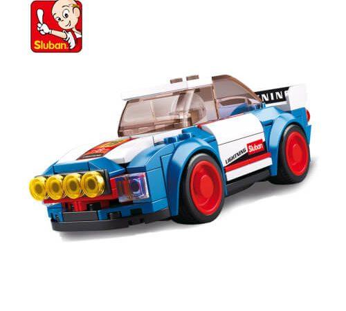 Sluban B0675 Car Club Rally Car Juego de construcción por bloques de plástico compatibles con Lego y otras marcas. Una forma fácil y divertida de construir tus primeros modelos y favorecer el desarrollo e imaginación .