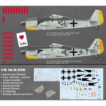eduard 82146 Focke Wulf Fw 190A-2 ProfiPACK 1/48 Kit en plástico para montar y pintar de la serie profiPACK de Eduard. Incluye fotograbados, piezas en resina y mascaras