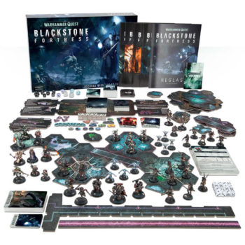 gws bf-01-03 Warhammer Quest: Blackstone Fortress Oscuras Misiones en el 41º Milenio Juego de mesa para 1 a 5 jugadores ambientado en una inmensa y antigua estación espacial donde tu y tus amigos formareis un grupo de exploradores recorriendo sus cámaras y descubriendo los secretos de la Fortaleza Negra.