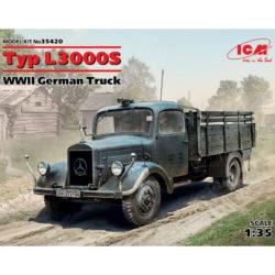 icm 35420 Typ L3000S WWII German Truck Kit en plástico para montar y pintar.