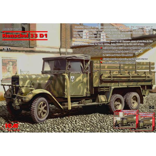 icm 35466 WWII German Army Truck Kit en plástico para montar y pintar.