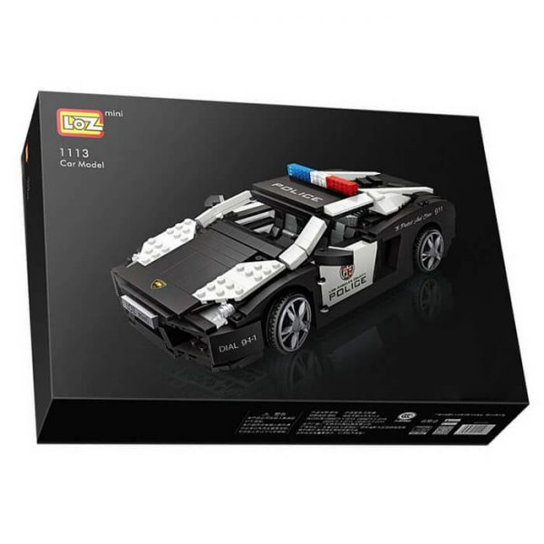 Loz Mini 1113 Lamborghini Police Car 1005 pcs Construye y colecciona con los bloques de Loz, tus vehículos favoritos. Los Mini Blocks de Loz son los bloques de construcción de tamaño medio entre Loz Diamond Blocks y Lego Blocks.