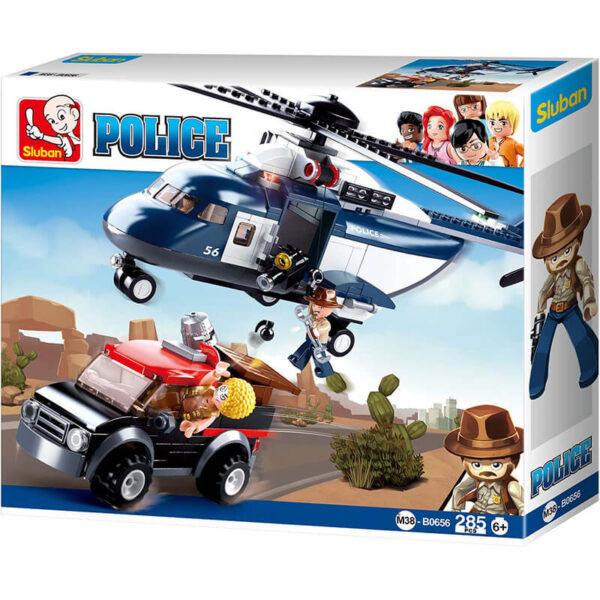 sluban M38 B0656 Sluban B0656 Big Police Helicopter Juego de construcción por bloques de plástico compatibles con Lego y otras marcas. Una forma fácil y divertida de construir tus primeros modelos y favorecer el desarrollo e imaginación