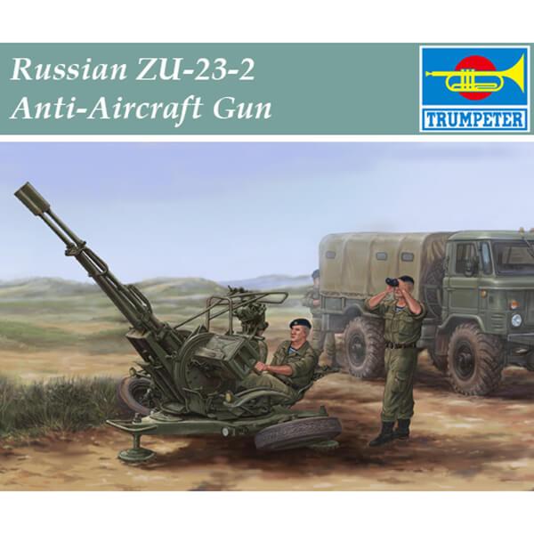 trumpeter 02348 Russian ZU-23-2 Anti-Aircraft Gun 1/35 Kit en plástico para montar y pintar. Incluye piezas en fotograbado