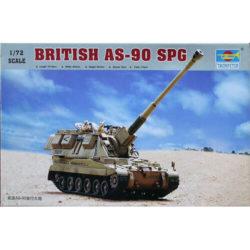 British AS-90 SPG 1/72 Kit en plástico para montar y pintar. Incluye cadenas por tramo y eslabón